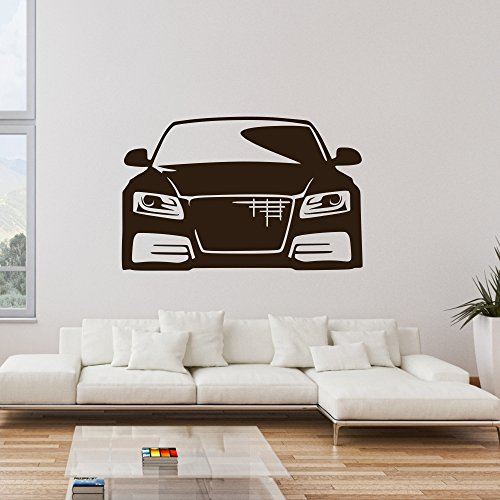 malango® Wandtattoo Auto Fahrzeug Wandaufkleber Wanddesign Autowelt Wand Tattoo Aufkleber Design ca. 80 x 51 cm Gold