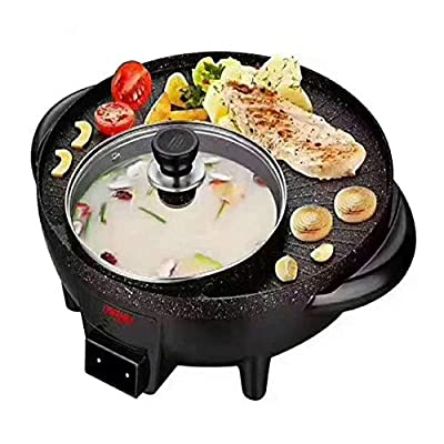 DW007 Korean Smoked BBQ Grill Smokeless Electric Oven and Asar Hotpot Electric Oven Kitchen Home Smokeless Nonstick Oven and Multifuncional 40X37x15cm
