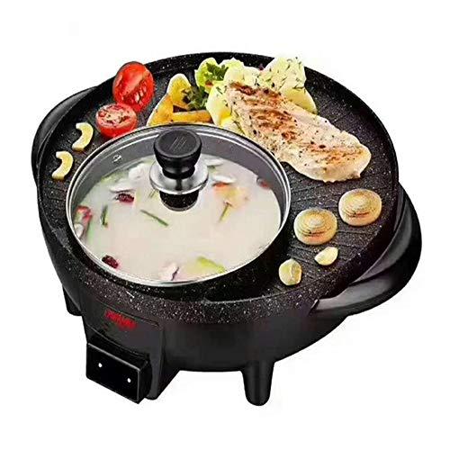 DW007 Korean Smoked BBQ Grill Senza Fumo Forno Elettrico E Asar Hotpot Forno Elettrico da Cucina Casa Senza Fumo Antiaderente Forno E Multifuncional 40X37x15cm