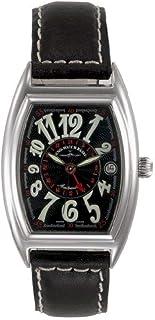 Zeno Watch Basel - Reloj para Hombre Analógico Automático con Brazalete de Cuero 8081GMT-h1