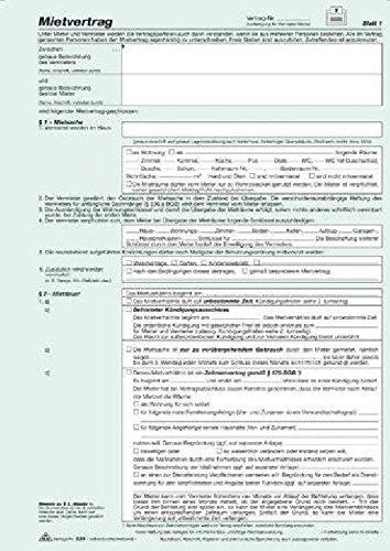 Mietvertrag Universal A4 RNK 523 3x2 Blatt