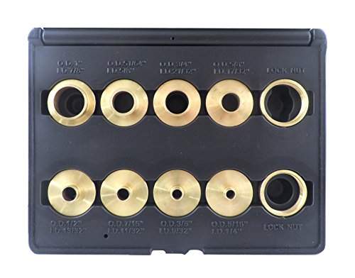 10 Piece Set Solid Brass Precision Machined Router Template Bushings Guide Bearings Set RB