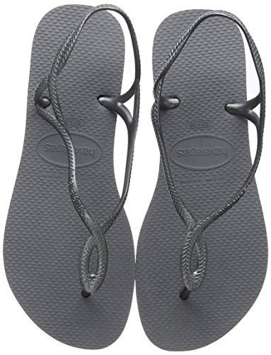 Havaianas Damen Luna Sandalen, Grey (Steel Grey), 37/38 EU