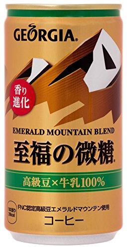 ジョージア エメラルドマウンテンブレンド 至福の微糖 缶 185ml×30本