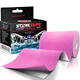 Kinesiology Tape Extra Wide 4' x 16.4' Roll - Physio Athletic Roll Medical Kinetic Knee Taping - Sports Kt Shoulder Wrist Tapes. Kinesio-logy Taping Guide - Breast Waterproof Tex Rock Roll Pink
