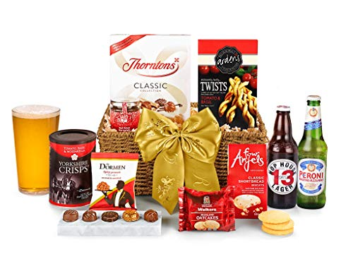Cotswold Hamper With Beer - Hand Wrapped Gourmet Food Basket, in Gift Hamper Box