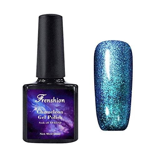 Frenshion 10ML Smalto Semipermanente Camaleonte Gel Nail Polish Stellato UV LED Galaxy 01