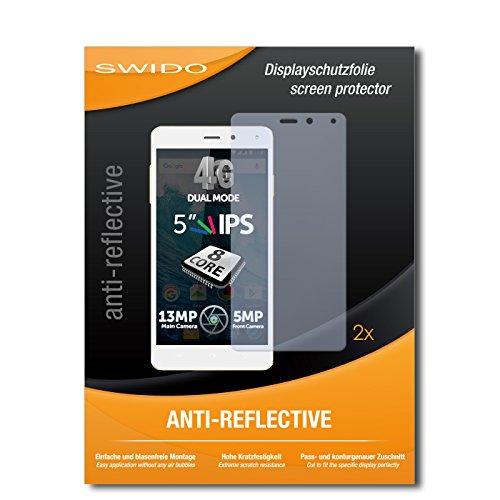 SWIDO Schutzfolie für Allview E4 [2 Stück] Anti-Reflex MATT Entspiegelnd, Hoher Festigkeitgrad, Schutz vor Kratzer/Bildschirmschutz, Bildschirmschutzfolie, Panzerglas-Folie
