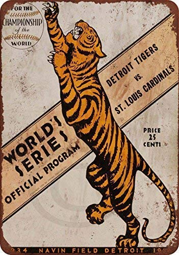 TammieLove Blechschild 1934 World Series Tigers Vs. Cardinals Schild, 20,3 x 30,5 cm