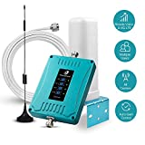 5 Bands Cell Phone Signal Booster for Home Office Use - Multiple Band Cellular Repeater Kit Boosts All Carriers Verizon AT&T T-Mobile 4G LTE 3G Voice and Data | Support Multi Devices | FCC Approved