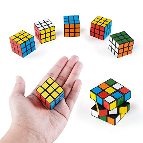 Super Z Outlet Mini Color 3x3 Cube Puzzle Game Toy for Party Favors (6 Pack) (24 Pack)