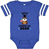 inktastic Groundhog Day Infant Creeper 18 Months Football Blue and White 33ad0