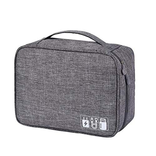 LMWLT Beauty Case da Viaggio Borsa da Toilette Borsa da Viaggio Impemeabile Ripiegabile Cosmetico Bag per Donna & Uomo, Digitale Bag Impemeabile,Gray