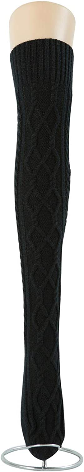 Beautyu Womens Cable Knit Long Boot Stocking Socks Over Knee High Winter Leg Warmers