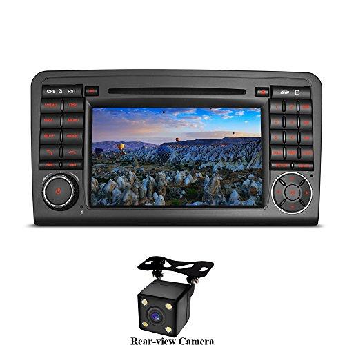 XISEDO Android 7.1 Autoradio 2 DIN Radio de Coche 7' Estéreo Navegación de Automóvil con Reproductor De DVD para Mercedes-Benz ML/GL (con Cámara Trasera)