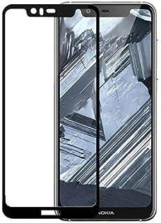 شاشة حماية من الزجاج المقوى لموبايل نوكيا 5.1 بلس باطار اسود