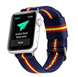 Estuyoya - Pulsera de Nailon Compatible con Apple Watch Colores Bandera de España, Ajustable Reemplazo Estilo Deportiva Casual Elegante para 38mm 40mm Series 6/5 / 4/3 / 2/1 / SE - OTAN