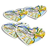 Pegatinas de vinilo con forma de corazón (juego de 4) – Frejus Town Francia – Pegatinas divertidas para ordenadores portátiles, tabletas, equipaje, reserva de chatarra, frigoríficos #45072