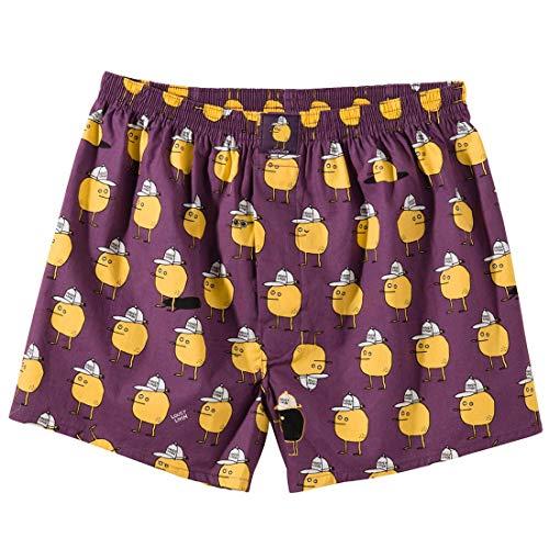 """LOUSY LIVIN Boxershorts \""""Zitrone\"""", Purple Grösse L"""