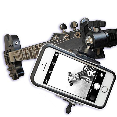 Guitar Ukulele Smartphone Mount Holder for Cell Phones and Gopro Action Cameras