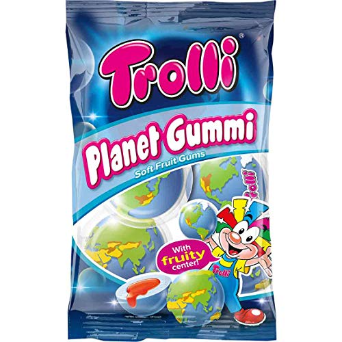 Trolli PLANET GUMMI soft fruit gums with liquid center 1 bag Made in Europe
