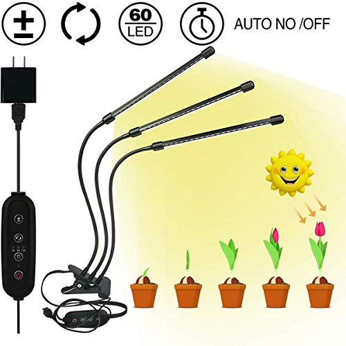30W New Controller LED Plant Light USB Full-Spectrum Clip Plant Growth Light, Used for Seedling Growth, Flowering and Fruiting,Golden light