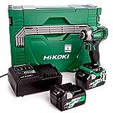 HIKOKI 51200886 - Atornillador de impacto 18-36V Li-Ion multivolt insercion de un cuarto apriete 210Nm con 2 baterías cargador y maletin WH36DBZ