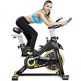 SXTYRL Indoor Bicicleta de ejercicio Spinning Ciclismo Bicicleta Estacionaria Pantalla Cardíaca Ajustable Pie Fitness Equipo