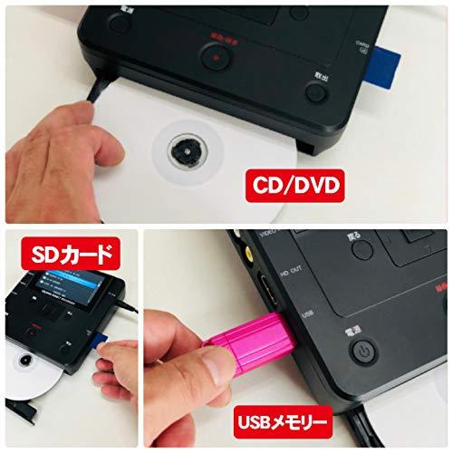 『とうしょう メディア レコーダー 録画・録音かんたん録右ェ門 CD/DVDダビング DMR-0720』の4枚目の画像