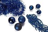 HEITMANN DECO Behang-Sortiment mit Baumspitze,blau, 45-TLG. - 3
