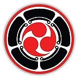 Mitsu Tomoe Japanese Triad Symbol Martial Arts Window Truck Car Bumper Sticker Decal 5' x 5'