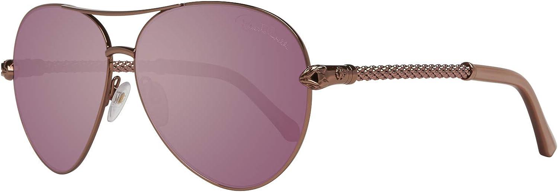 Roberto Cavalli Women's Syrma 976S 976 S 34Z pink gold Aviator Sunglasses 61mm