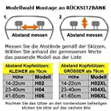 OVITAN Hundegitter XL fürs Auto 6 Streben universal zur Befestigung an den Kopfstützen der Rücksitzbank – für alle Automarken geeignet – Modell: H06XL - 4