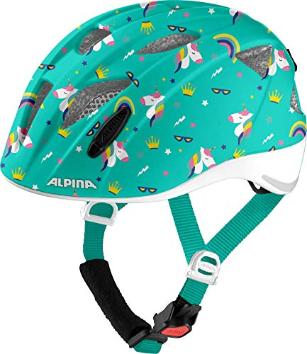 ALPINA Unisex - Kinder, XIMO FLASH Fahrradhelm, unicorn gloss, 49-54 cm