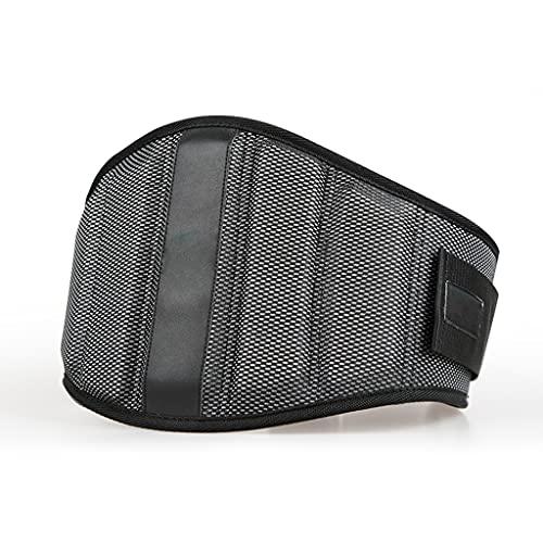 FSJKZX Cinturón de fitness para levantamiento de pesas para hombres y mujeres, equipo de entrenamiento de culturismo, equipo de protección (color negro, tamaño: XL)