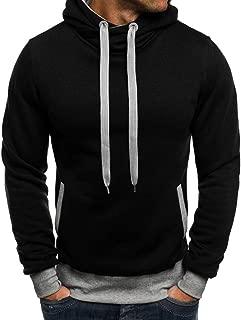 IZHH Mens Pullover Hoodie Sweatshirt Solid Color Slim Hooded Jumper Jacket Coats
