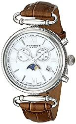 in budget affordable Akribos Multifunctional Swiss Chronograph Watch-Women's Watch with Dial-Mother …