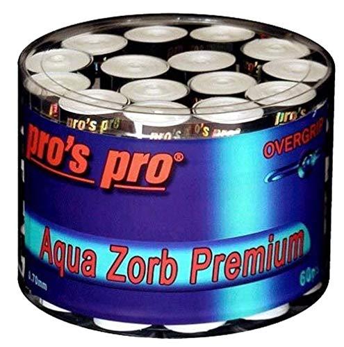 Pro Pros Tennis Griffbänder Aqua Zorb Premium 60er Weiss
