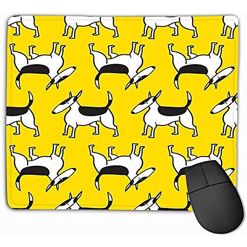 Wasserdicht Anti Rutsch Matte,Mauspad Bullterrier Hunde Hintergrund Haustiere Charact Bullterrier Hunde Hintergrund Haustiere Charakter Mode Rechteck Gummi Mousepad 25X30Cm