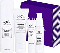 NxN Acne Treatment Kit 4-Step Clear Skin System with Salicylic Acid, Probiotics, Sulfer & Natural Retinols, Control Blemishes & Breakouts, Face Care Solution Set for All Skin Types Including Sensitive