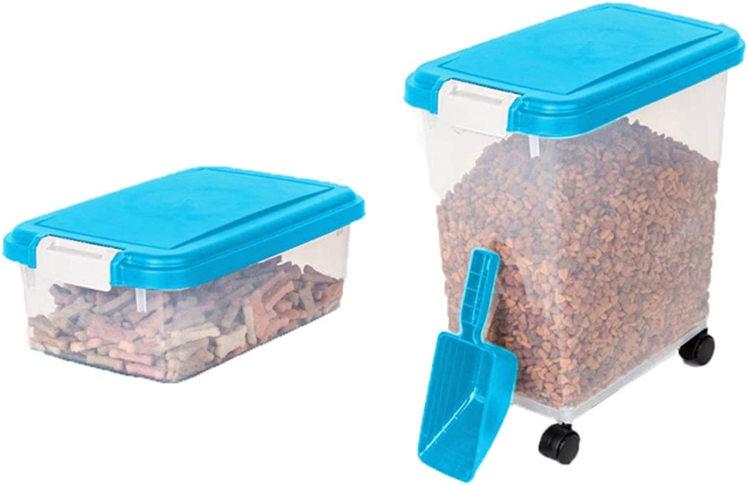 2 Large Food Storage Containers, Airtight Kitchen Flour Coffee Cereal Dispenser Bucket with Locking Lids Pet Dry Food Box (color   E)