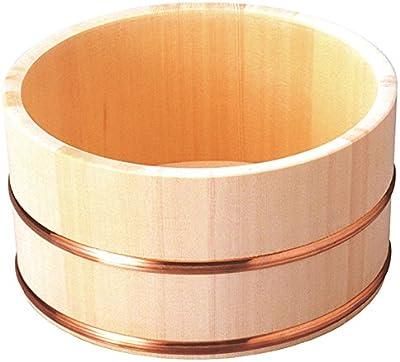 ヤマコー 洗面器 ひのき湯桶(銅タガ/丸型)