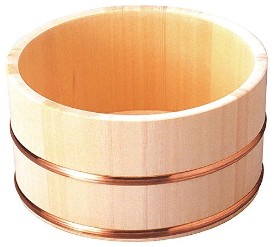 しないでください口実ソースヤマコー 洗面器 ひのき湯桶(銅タガ/丸型)