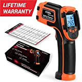 Kizen LaserPro LP300 Infrared Thermometer Non-Contact Digital Laser Temperature Gun with LCD Display...