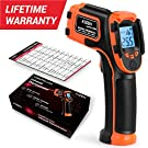 Kizen LaserPro LP300 Infrared Thermometer Non-Contact Digital Laser Temperature Gun with LCD Display -58℉~1112℉(-50℃~600℃) Adjustable Emissivity (NOT for Humans)