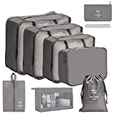 OrgaWise 9 Set Packing Cubes,Luggage Organizer Bag with Shoes Bag Packing Cubes Travel