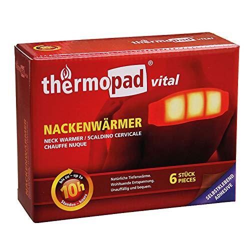 THERMOPAD Nackenwärmer – DAS ORIGINAL: 6x Wärmepads für 10 Stunden Wärme I Sofort einsatzbereite Wärmeauflage mit extra warmen Heatpads – ideales Heizkissen für Nacken, Schulter & Rücken-Bereich