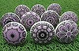10 tiradores vintage de cerámica con distintos...