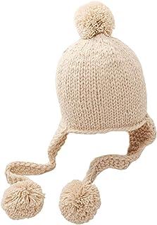 SATINIOR Cappello Pilota per Bambini Marrone Berretto Pilota in Pelliccia con Paraorecchie Caldo Cappello Invernale per Bambini