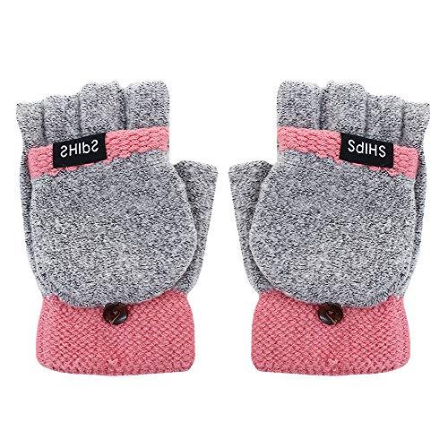 MEGA - Guanti trasformabili in maglia a mezze dita, con copertina a...